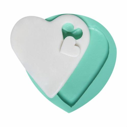 Kurdelya Kesik Kalp Detaylı Silikon Kalıp