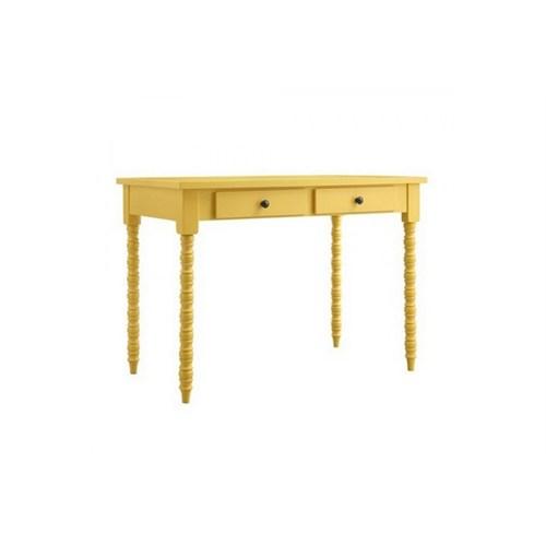 Woodenbend Belda Sarı Çalışma Masası (70X110)