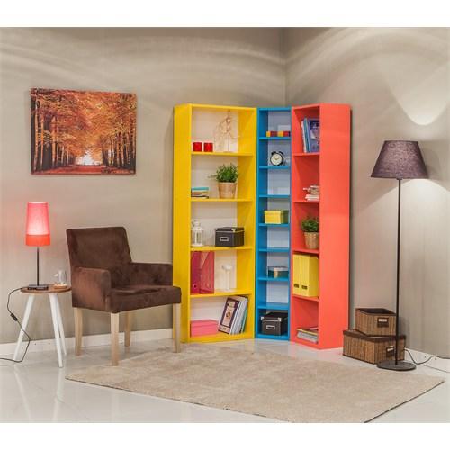 Mobetto Rio Kitaplık Seti Sarı-Mavi-Pembe