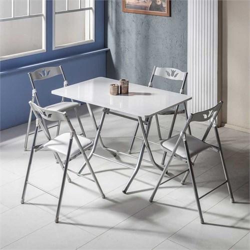 Vural Katlanır Kırma Katlanabilir Masa Sandalye Takımı-70X110