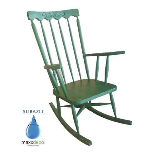 Maxxdepo Crocus Eskitme Yeşil Sallanan Sandalye