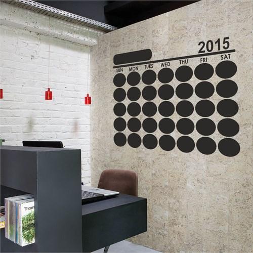 Dekorjinal Aylık Program Yazılabilir Yaz Sil Sticker Ys25
