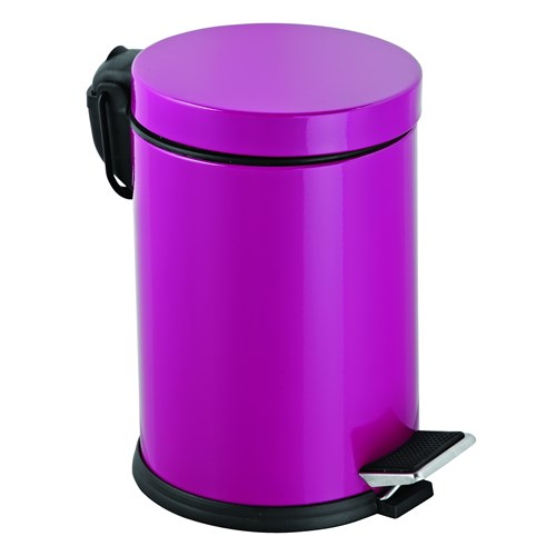 Baneva Pedallı Çöp Kovası Fuşya 3 Litre