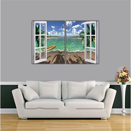 Ritmo-Deniz Ve Kumsal Kanvas Tablo