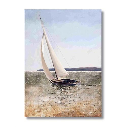 Ritmo-Beyaz Yelkenli Kanvas Tablo