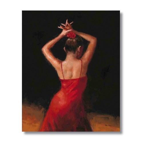 Ritmo-Kırmızının Dansı Kanvas Tablo