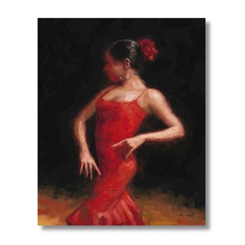 Ritmo-Kırmızının Dansı2 Kanvas Tablo