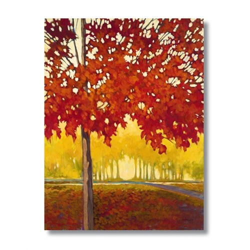 Ritmo-Kızıl Yapraklar2 Kanvas Tablo