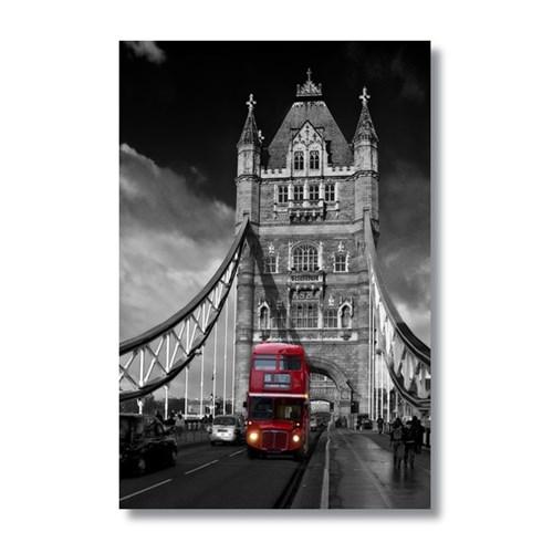 Ritmo-Bıg Ben Ve Kırmızı Otobüs Kanvas Tablo