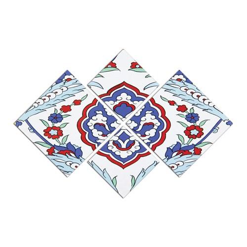 Turkuaz Dekoratif 87 X 60 Cm 4 Parçalı Mdf Tablo