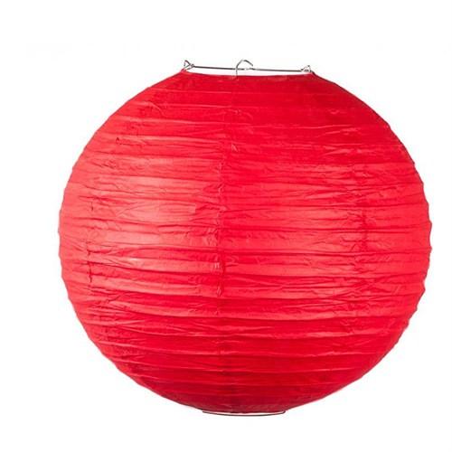 Pandoli Çin Feneri Asma Süs Kırmızı Renk 35 Cm