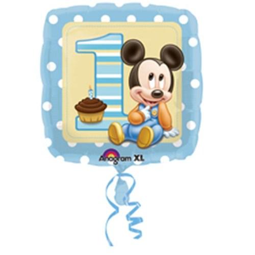 Pandoli 45 Cm Folyo Balon Mickey 1 Yaş Doğumgünü