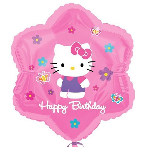 Pandoli 45 Cm Folyo Balon Hello Kitty Flowers Ve Butterflies