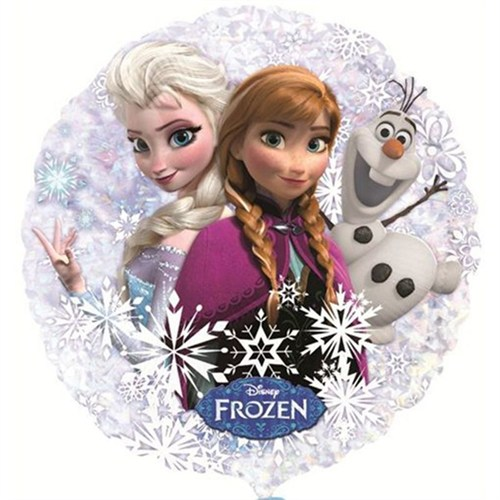Pandoli 53 Cm Folyo Balon Holographic Anna Elsa And Olaf