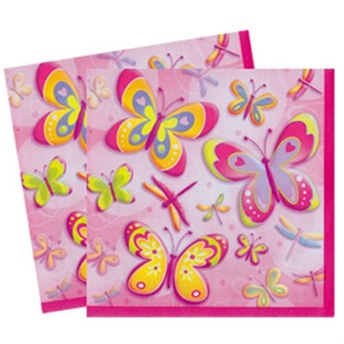 Pandoli Butterflies Dragonflies Kağıt Peçete 33X33cm 16 Ad