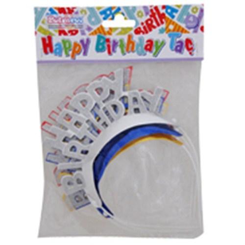 Pandoli Pırıltılı Happy Birthday Taç 4 Lü