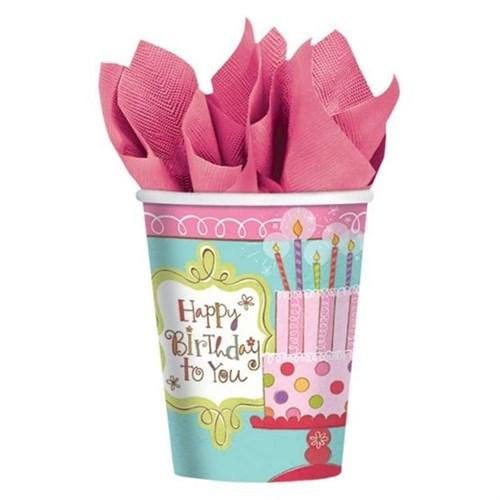 Pandoli Sweet Stuff Birthday Karton Bardak 8 Adet