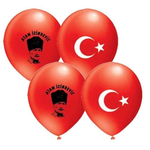 Pandoli 25 Li Atatürk Ayyıldız Baskılı Balon