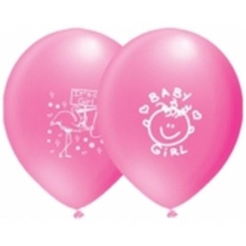 Pandoli 10 Lu It İs A Girl Baskılı Pastel Balon
