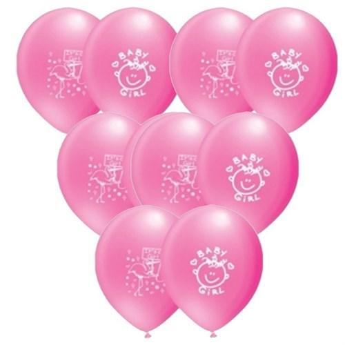 Pandoli 100 Adet It İs A Girl Baskılı Pastel Latex Balon