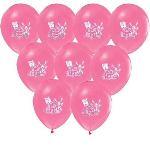 Pandoli 100 Adet İlk Dişim Baskılı Mavi Pembe Balon