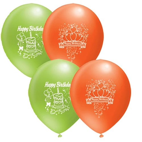 Pandoli 25 Li Happy Birthday Baskılı Renkli Balon