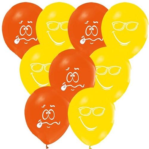 Pandoli 100 Adet Renkli Baskılı Yüz İfadeleri Balon