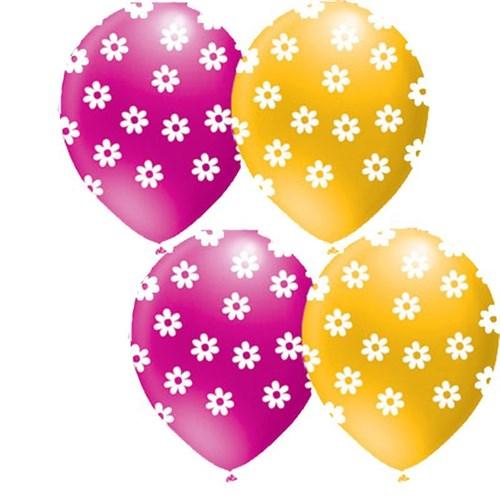 Pandoli 25 Li Çepeçevre Pastel Papatya Baskılı Renkli Balon