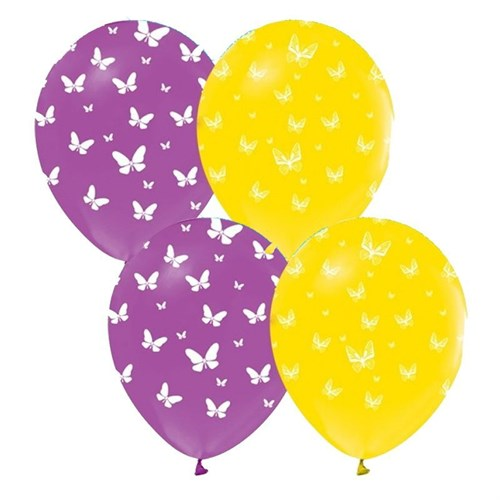 Pandoli 25 Adet Çepeçevre Kelebek Baskılı Balon