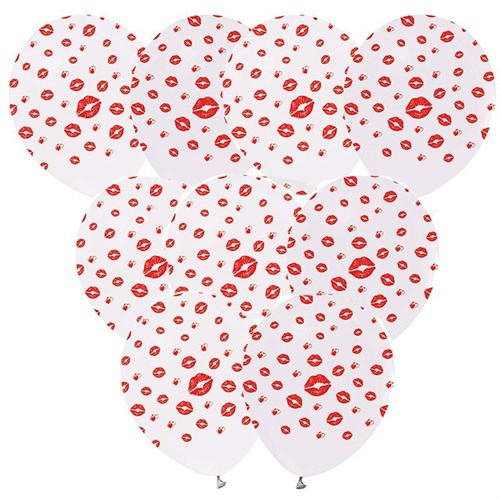 Pandoli 100 Lü Çepeçevre Dudak Baskılı Latex Balon