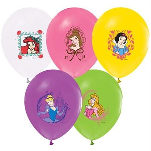 Pandoli 100 Lü Prenses Baskılı Latex Renkli Balon