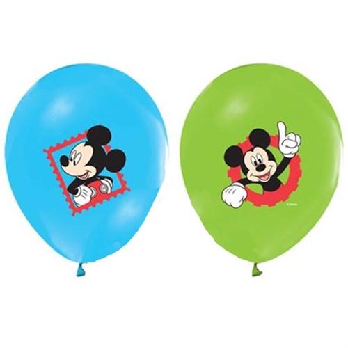 Pandoli 10 Adet Mickey Baskılı Renkli Balon Latex