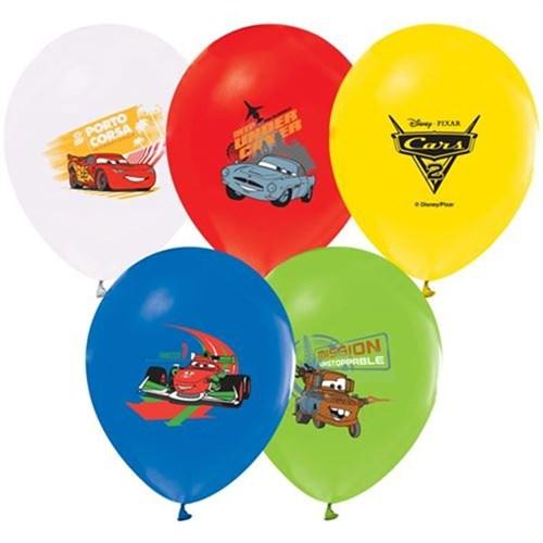 Pandoli 100 Adet The Cars Baskılı Latex Renkli Balon