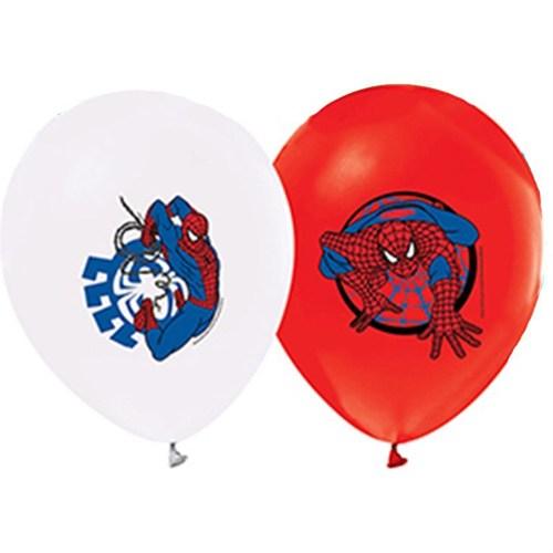 Pandoli 10 Lu Spiderman Baskılı Latex Renkli Balon