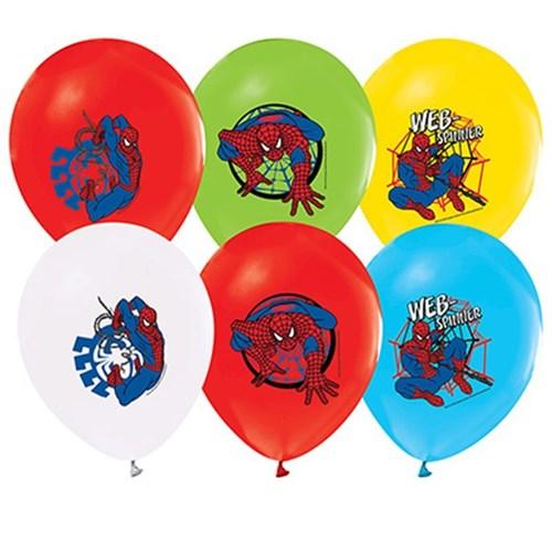 Pandoli 100 Lü Spiderman Baskılı Latex Renkli Balon
