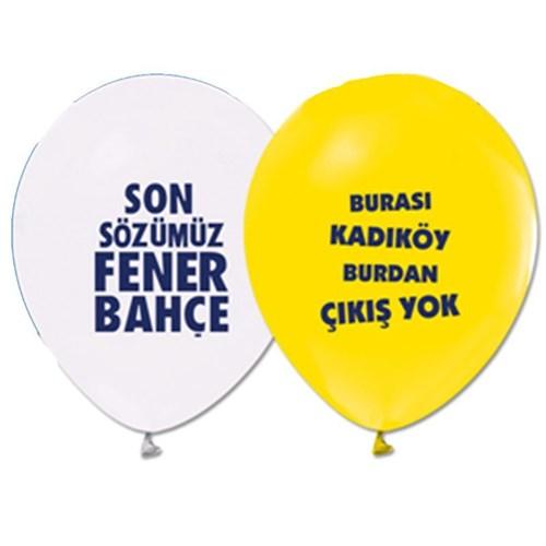 Pandoli 10 Adet Fenerbahçe Baskılı Renk Latex Balon