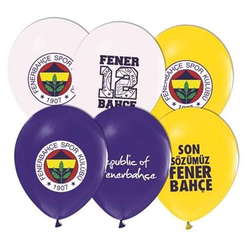 Pandoli 100 Adet Fenerbahçe Baskılı Renk Latex Balon