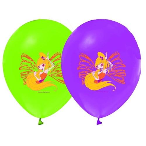 Pandoli 10 Lu Winx Club Baskılı Renkli Latex Balon