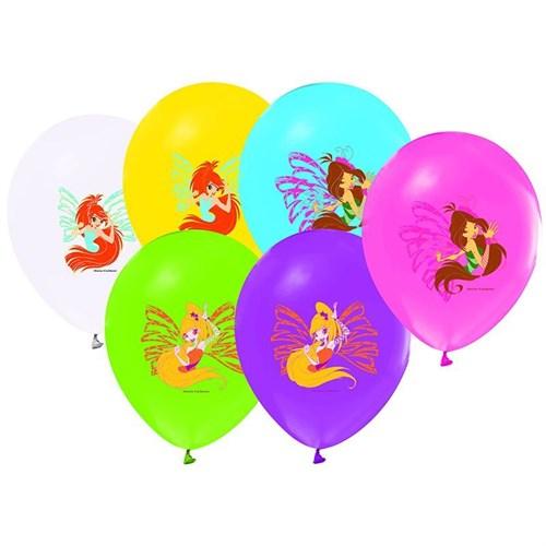 Pandoli 100 Lü Winx Club Baskılı Renkli Latex Balon