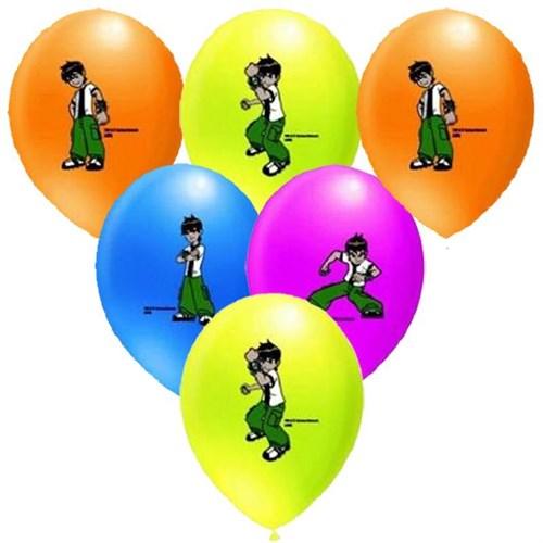 Pandoli 100 Lü Ben 10 Baskılı Latex Balon Renkli