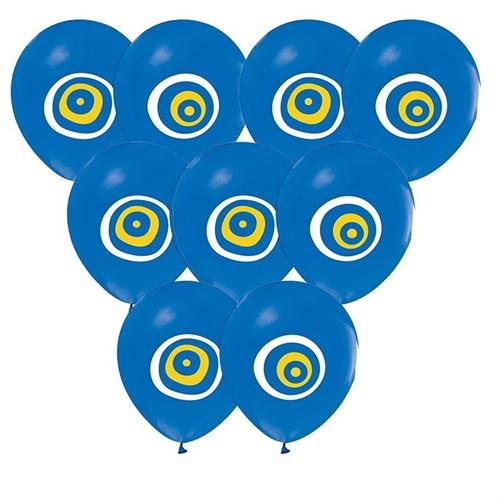 Pandoli 100 Lü Açık Mavi Nazar Boncuğu Balon Latex