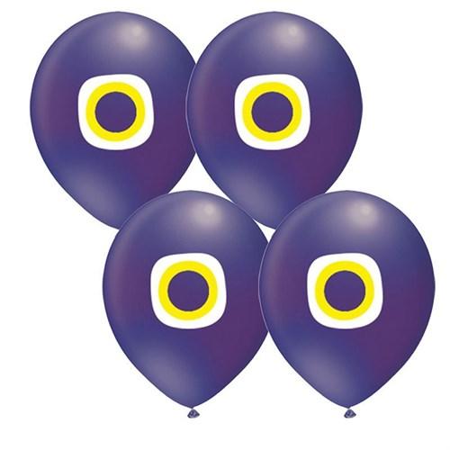 Pandoli 25 Adet Latex Nazar Boncuğu Mavi Renk Balon