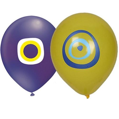 Pandoli 10 Adet Karışık Renk Nazar Boncuğu Latex Balon