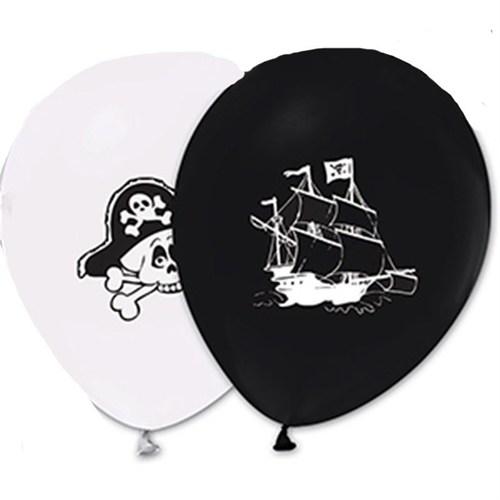 Pandoli 10 Adet Latex Korsan Baskılı Renkli Balon