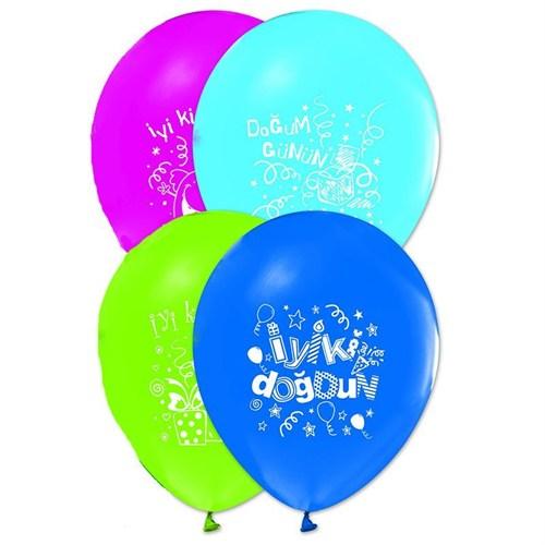 Pandoli 25 Adet İyi Ki Doğdun Baskılı Latex Renkli Balon