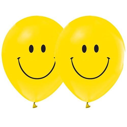 Pandoli 10 Lu Gülen Yüz Baskılı Smile Sarı Balon