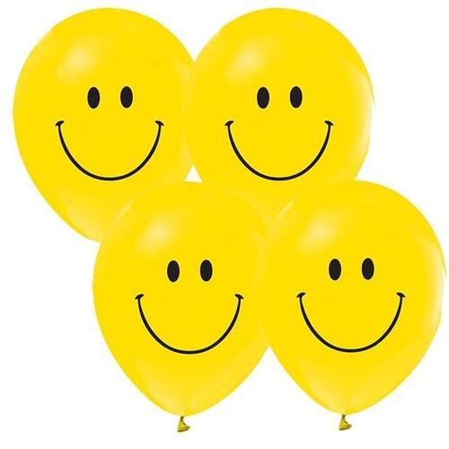 Pandoli 25 Li Gülen Yüz Baskılı Smile Sarı Balon