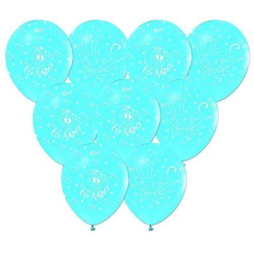 Pandoli 100 Adet Mavi It İs A Boy Baskılı Latex Balon