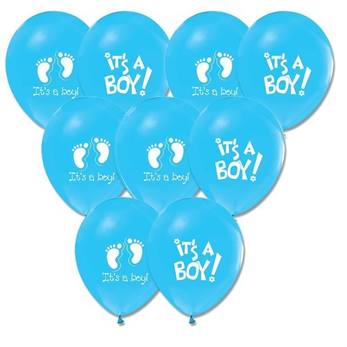 Pandoli 100 Adet Mavi It İs A Boy Baskılı Balon Latex