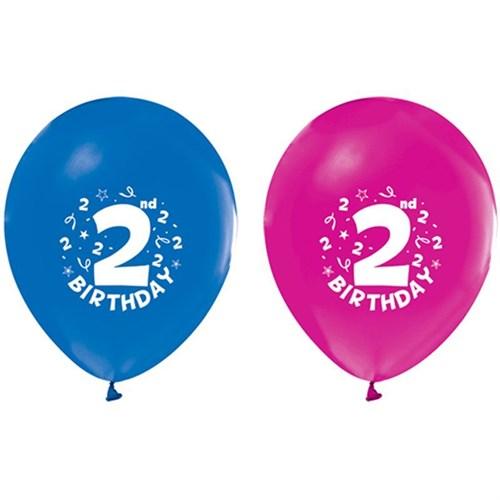 Pandoli 10 Adet 2 Yaş Happy Birthday Latex Renkli Balon